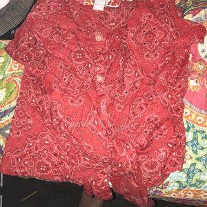 Bandanna patterned shirt